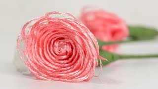 DIY Easy Fabric Roses: Making Flowers For Gift, Weddings Or Home Decor