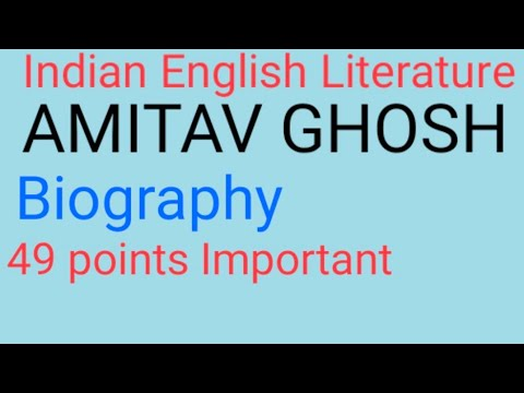 Download Amitav Ghosh Biography. INDIAN ENGLISH LITERATURE. Mp4 HD Video and MP3