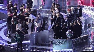 171202 방탄소년단 (BTS) TOP10 수상 대기석 (워너원, 트와이스, EXO) + 소감 4K 직캠 @멜론 뮤직 어워드 (MMA) 4K Fancam by -wA-