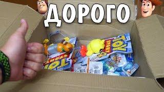 Обложка на видео о ДОРОГО! Купил все игрушки ИСТОРИЯ ИГРУШЕК 4 с OZON