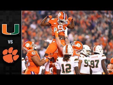 Miami vs. Clemson ACC Football Championship Highlights (2017)