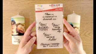 #119 SAVE MONEY: Create Custom Candles using Stamps and Photos