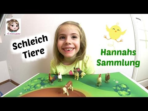 SCHLEICH TIERE 🐮 Hannah zeigt euch ihre Sammlung 🐔 Spielfiguren 🐶