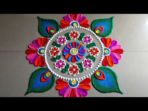 quick rangoli designs for beginners by poonam borkar