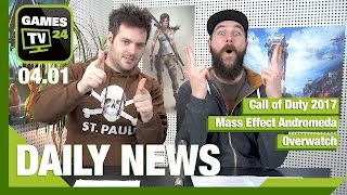 Call of Duty (2017), Mass Effect Andromeda, Overwatch | Games TV 24 Daily - 04.01.2017
