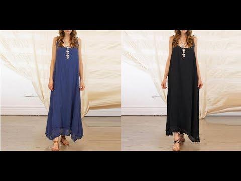 Женское платье или Сарафан летний тонкий и легкий с круглым вырезом без рукавов