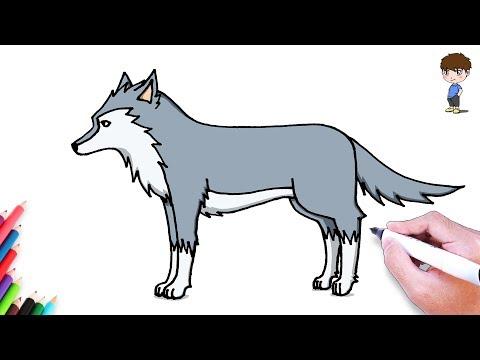 Cómo Dibujar Un Lobo Paso A Paso Dibujo Fácil De Lobo Dibu