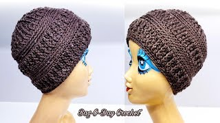 How To Crochet A Beanie Hat | Unisex Beanie Hat | DIY Beanie Hats
