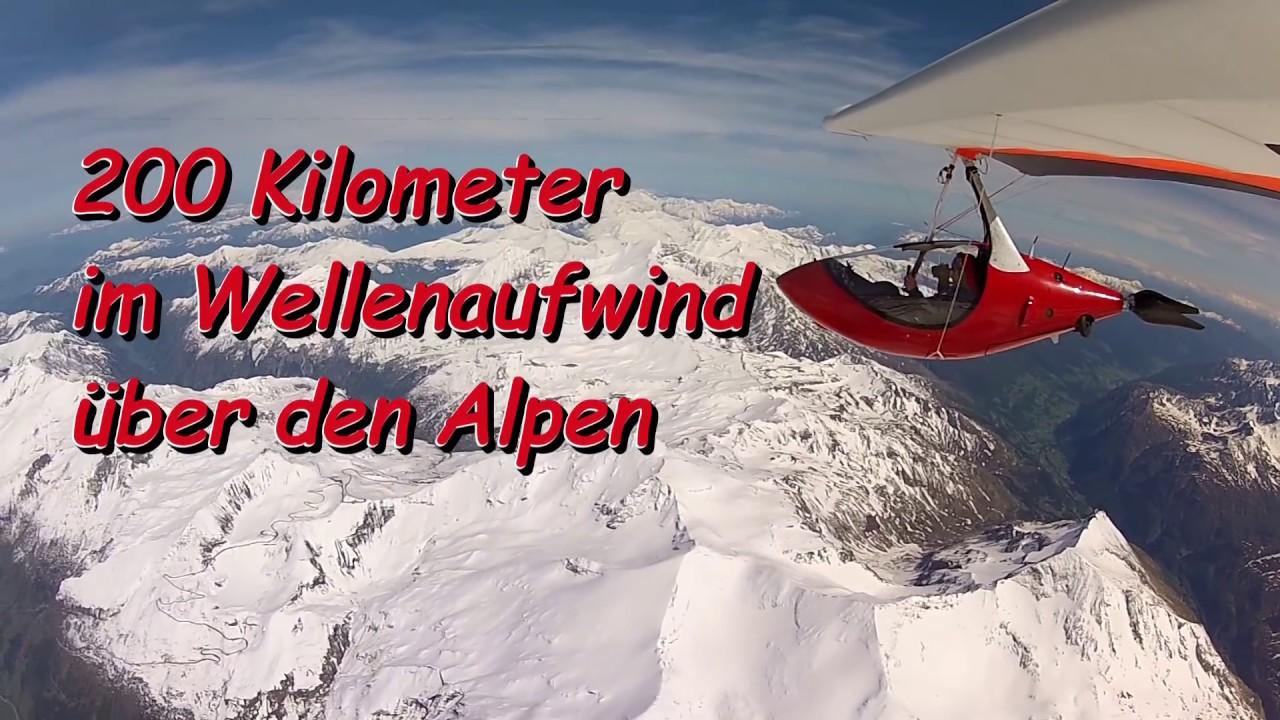 200 Km im Wellenaufwind �ber den Alpen mit dem Silent Glider M