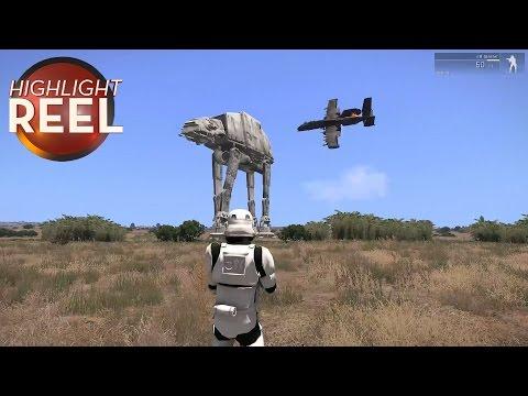 Someone Put A Star Wars AT-AT In Arma 3