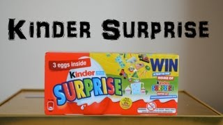 3 Kinder Surprise Egg Box Unboxing Unwrapping Kinder Toys (HD)