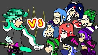 Splatoon   1v1 Funny Moments I Featuring Friends Raging
