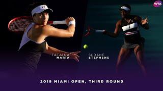 Tatjana Maria vs. Sloane Stephens   2019 Miami Open Third Round   WTA Highlights