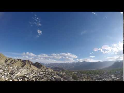 Clouds floating over Leh city