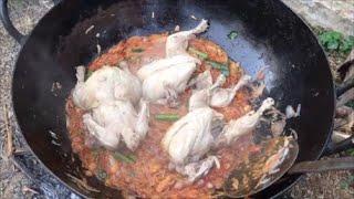 Full chicken kulambu - Cooking a entire chicken - My Village My Food
