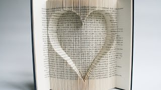 Book Folding Tutorial - Inverted Heart