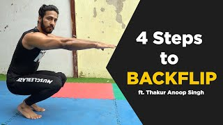 LEARN HOW TO BACKFLIP | BACKFLIP Tutorial | Hindi | Thakur Anoop Singh | MuscleBlaze