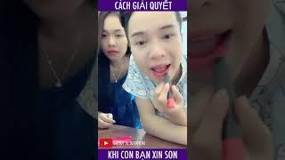 Gia Huy Su Su xử lý Thiên Thư khi bị xin son | Gia Huy Su Su Official