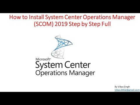 How to Install System Center  Operations Manager (SCOM) 2019 Step by Step Full