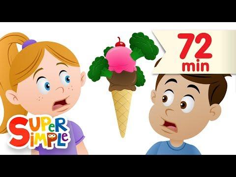Do You Like Broccoli Ice Cream? + More | Nursery Rhymes | Super Simple Songs