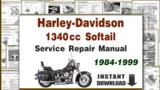 Harley Davidson Softail EVO 1340cc Motorcycles Service Repair Manual PDF 1984-1999
