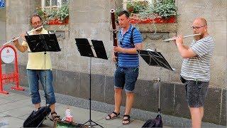 Straßenmusik der Extraklasse - Zwei Querflöten und Fagott - Erfurt 2017