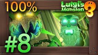 Luigi's Mansion 3: 100% Walkthrough Part 8 - Garden Suits (7F)