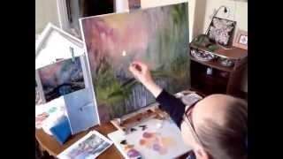 """Пишу пейзаж маслом на заказ по своей картине """"Сумерки в Лесу"""""""