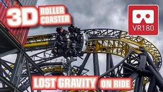 Roller Coaster VR180 3D Experience - LOST GRAVITY | VR POV @ Walibi Holland Achterbahn Montaña Rusa