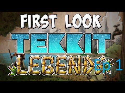 Tekkit Legends Let's Play Ep 1 - смотреть онлайн на Hah Life