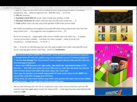 Video Cara mengatasi android yang restart dan hang secara tiba-tiba look at localtechno
