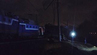 Поезд Москва-Брест момент столкновения