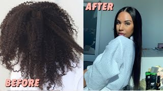 SUPER Intense KERATIN Treatment to Straighten my Natural Hair