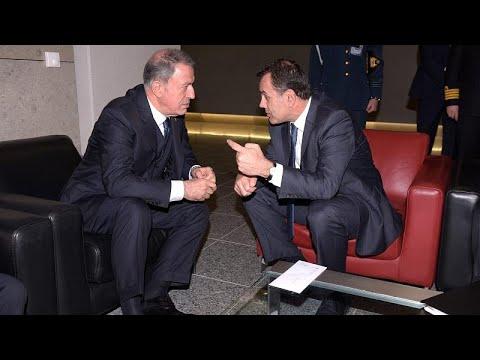 Συνάντηση Παναγιωτόπουλου-Ακάρ στο περιθώριο της συνόδου του ΝΑΤΟ…
