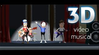 crea un video musical profesional en 3D con tu canción