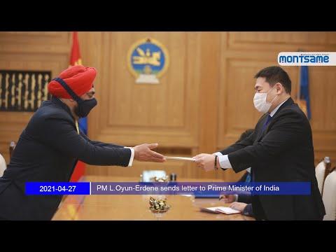 PM L.Oyun-Erdene sends letter to Prime Minister of India