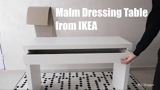 Malm Dressing Table From IKEA, Assembly Guide
