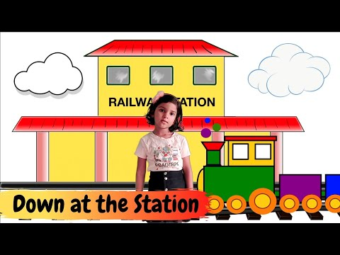 Down at the station | Down at the Harbour | Down at the Airport | Nursery Rhyme | Rhyme for Kids