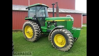 1990 John Deere 4255 with 2694 Hours Sold Today on Indiana Farm Auction