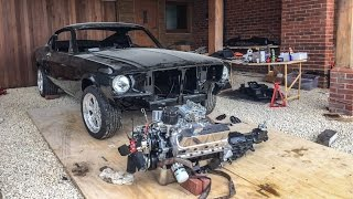 Building a 1967 Ford Mustang Fastback on a driveway!