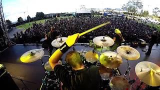 Barón Rojo - Hijos de cain+Los rockeros van al infierno - Quitofest 2017 (Drum Cam)