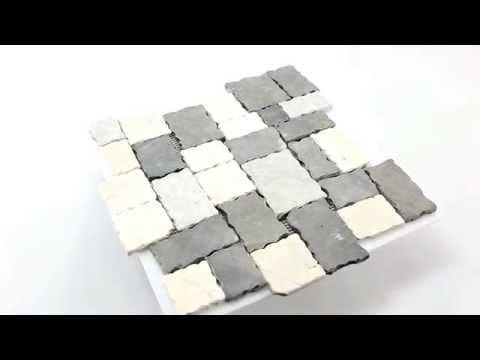 Naturstein Mosaik Fliesen Schwarz Grau Beige