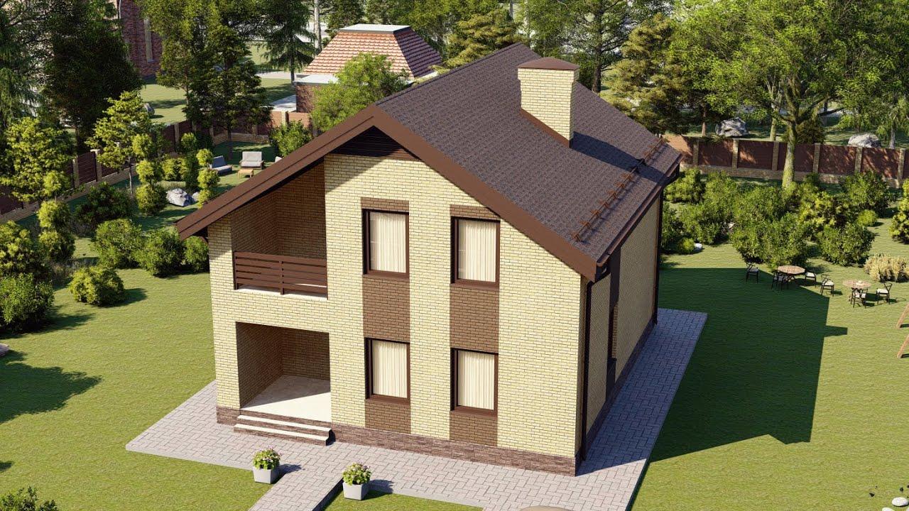 Одноэтажный дом из газобетона с мансардой 120 кв м