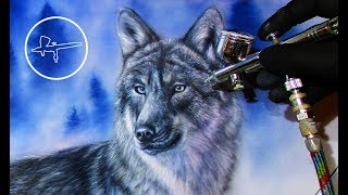Airbrush Painting Wolves | Car | By Igor Amidzic
