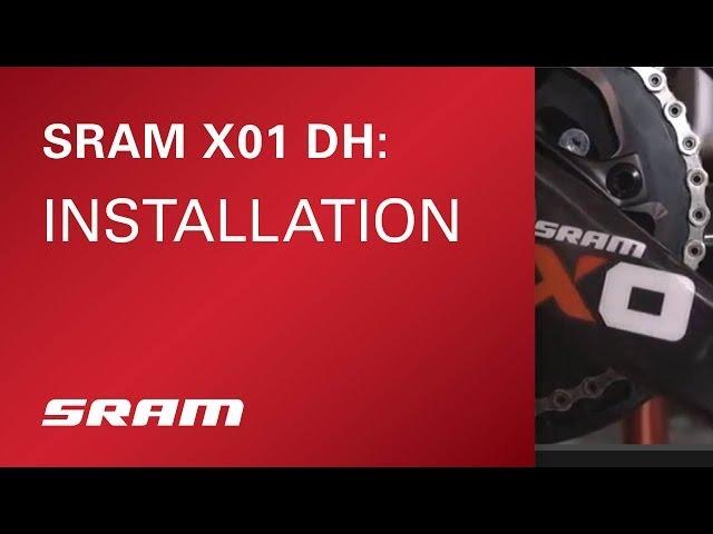 Видео Переключатель задний Sram X01 DH Type 3.0, 7 speed, средняя лапка, черно-красно-белый
