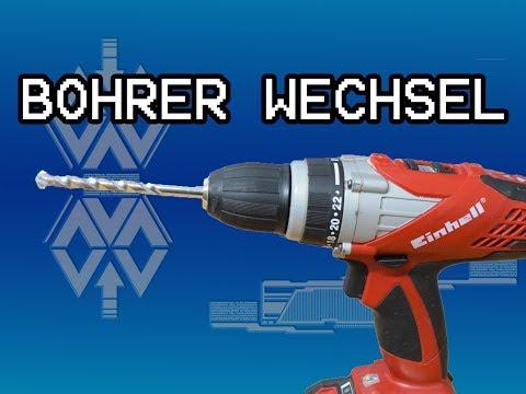 Bohrer wechseln / Bohraufsatz wechseln Akkubohrer oder Bohrmaschine Bosch, Makita, Metabo...