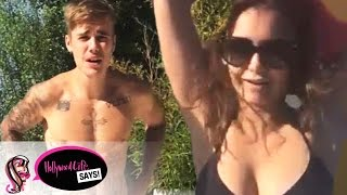 Justin Bieber & Nina Dobrev Strip: Best Of Ice Bucket Challenge