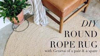 DIY Round Rope Rug