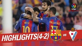Resumen de FC Barcelona vs SD Eibar (4-2)