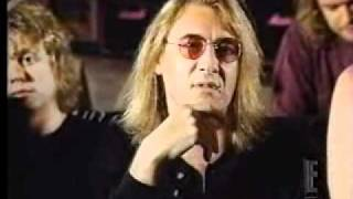 E News Def Leppard playing Action/interview 1996